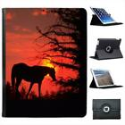 Horse On A Hill At Sunset Folio Wallet Leather Case For iPad 2, 3 & 4