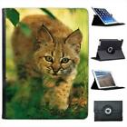 Wild Animal Bobcat Kitten in Lush Green Foliage Leather Case For iPad 2, 3 & 4