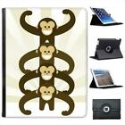 Cute Monkey Power Folio Wallet Leather Case For iPad 2, 3 & 4