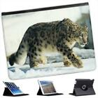 Snow Leopard Folio Wallet Leather Case For iPad 2, 3 & 4