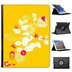 Animal Garden Yellow Folio Wallet Leather Case For iPad 2, 3 & 4