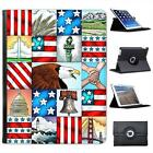 American Eagle Liberty Star Stripes Folio Wallet Leather Case For iPad 2, 3 & 4