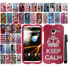 For Motorola Moto X Phone XT1058 Image DIAMOND BLING HARD Case Phone Cover + Pen