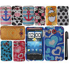 For HTC Inspire 4G Design DIAMOND BLING CRYSTAL HARD Case Phone Cover + Pen