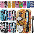 For Samsung Intensity 3 U485 DIAMOND BLING CRYSTAL HARD Case Phone Cover + Pen