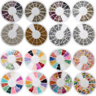 Nail Art 3D Glitter Rivets Decoration Rhinestone Acrylic Tips Colorful Studs Gem