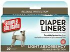 SIMPLE SOLUTIONS DOG DIAPER LINERS puppy urination season protection pad 5587
