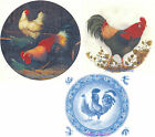 Ceramic Decals Rooster Hen Bird Animal Plate Sized Different Designs image