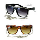 NEW Snooki Sunglasses Long Chain Women GaGa Glasses Jersey Shore Celebrity