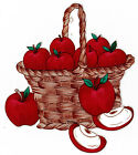 """5.5-9""""  APPLES IN A BASKET FRUIT  WALL STICKER GLOSSY BORDER CHARACTER CUT OUT"""