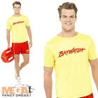 Baywatch Beach Mens Fancy Dress Lifeguard  Uniform Adult 1990s Celebrity Costume