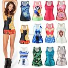 Sexy Flower Tank Tops Vest Racer Cami Sleeveless Casual T-Shirt Blouse New SH