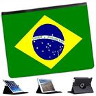 Brazil Flag Folio Wallet Leather Case For iPad 2, 3 & 4
