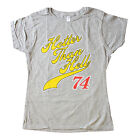 Kiss Hotter Than Hell 74 Rock and Roll Girls Summer OFFICIAL Fitted T-Shirt