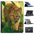 Wild Animal Bobcat Kitten in Lush Green Foliage Leather Case For iPad Air, Air 2