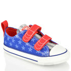 INFANTS TODDLERS CONVERSE ALL STAR 742877 VELCRO CANVAS LO TRAINERS SHOES SIZE