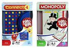 Hasbro Reise Spiele - Connect 4 oder Monopoly