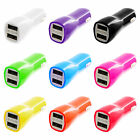 USB 2-Port Dual Car Charger Accessory 1 Amp + 2.1 Amp for Cell Phones Tablets
