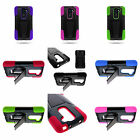 Hybrid Armor Silicone + Hard Stand Protector Cover Phone Case For LG G2 Mini