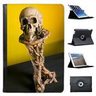 Skull On Table With Spiders Weaving Webs Halloween Leather Case For iPad Mini