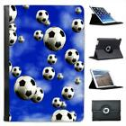 It's Raining Footballs Soccer Balls Folio Leather Case For iPad Mini & Retina