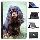 Cavalier King Charles Spaniel Dog Sitting Leather Case For iPad Mini & Retina
