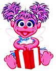 """5.5-8.5"""" SESAME STREET ABBY CADABBY WALL STICKER GLOSSY BORDER CHARACTER CUT OUT"""