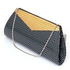 Womens Evening Bag Clutch Handbag Beaded Rhinestone Purse Wallet Formal Party NW
