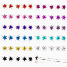 New Rose Flower Crystal Wedding Party Hair Pin Clips 5/10/20/50pcs