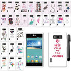 For LG Splendor US730 Venice Showtime L86C Design PATTERN HARD Case Cover + Pen