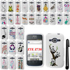 For ZTE Concord 2 Z730 Art Design PATTERN HARD Protector Case Phone Cover + Pen