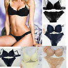 New Hot Sexy Deep V Lace Plunge Bra Sets +Briefs Knickers 34 36 38 A B C Cup