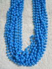 """1 Doz (12 STRANDS) 33"""" Long 7mm BABY SHOWER BIRTHDAY BEADS FAVORS BLUE or PINK"""