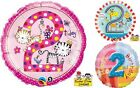 """2nd Birthday 18"""" Foil Balloons Boy Girl Second Party Balloon Decoration Age 2"""