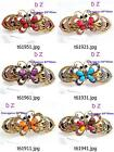 t619m67 Fashion Women Crystal Rhinestone Butterfly Barrette Hair Clip Hairpin