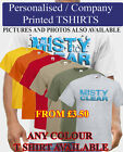 Company Logo Promo lot Personalised Charity T Shirt Photo Stag Party TShirts