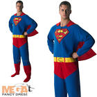 Superman Onesie Superhero Mens Fancy Dress Adults Comic Book Movie Costume New