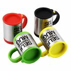 PLAIN LAZY AUTO SELF STIR STIRRING MIXING TEA COFFEE CUP MUG WORK OFFICE GIFT UK