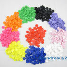 150 Sets KAM Size16/20 T3/T5 Mix Color Plastic Resin Snap Fasteners Press Studs