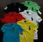 NWT Ralph Lauren Boys S/S Big Pony Solid Mesh Polo Shirt 2t 3t 4t NEW $40 5a