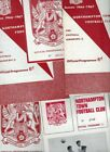 Northampton Town HOME programmes 1960s FREE P&P UK Choose from list