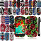 For Samsung Galaxy Light T399 DIAMOND BLING HARD Protector Case Cover + Pen