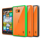 FUSION BUMPER GEL CASE CLEAR BACK REAR COVER FOR NOKIA LUMIA 930
