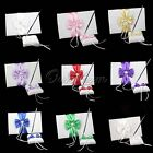 Guest Book and Pen Set Wedding Bridal Bowknot Decor Reception Color Pearl Supply