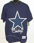 Vintage 90's NFL Dallas COWBOYS T-Shirt The GAME Big Logo BLUE NWT New Old Stock