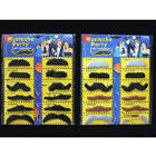 12 SELF-ADHESIVE FAKE MUSTACHE MOUSTACHES MUSTACHES FANCY DRESS PARTY 2 COLORS