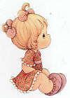 """6.5-10.5"""" PRECIOUS MOMENTS   GIRL  WALL SAFE STICKER  BORDER CUT OUT"""