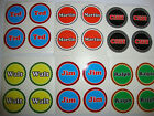 """12 LAWN BOWLS STICKERS 1"""" YOUR NAME   CROWN GREEN BOWLS FLAT & INDOOR BOWLS"""