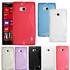 S Line Wave Soft Slim TPU Gel Back Case Cover Skin For NOKIA Lumia Icon 929 930