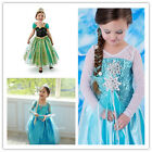 Disney Frozen Queen Elsa Girl Kid Party Blue Tutu Dress Princess Skirt 2-8Years